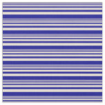 [ Thumbnail: Bisque and Dark Blue Colored Pattern Fabric ]