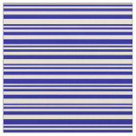 [ Thumbnail: Bisque and Dark Blue Lined Pattern Fabric ]