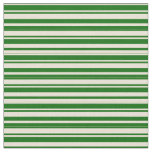 [ Thumbnail: Bisque and Dark Green Colored Lines Fabric ]