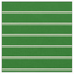 [ Thumbnail: Bisque and Dark Green Colored Lines Pattern Fabric ]