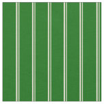 [ Thumbnail: Bisque and Dark Green Lined/Striped Pattern Fabric ]