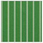[ Thumbnail: Bisque and Dark Green Lines Fabric ]