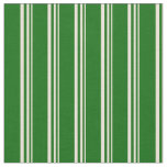 [ Thumbnail: Bisque and Dark Green Lines/Stripes Pattern Fabric ]