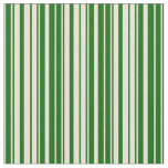 [ Thumbnail: Bisque and Dark Green Stripes Pattern Fabric ]