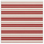 [ Thumbnail: Bisque and Dark Red Colored Pattern of Stripes Fabric ]
