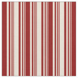 [ Thumbnail: Bisque and Dark Red Pattern Fabric ]
