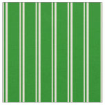 [ Thumbnail: Bisque and Green Colored Striped/Lined Pattern Fabric ]
