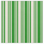 [ Thumbnail: Bisque and Green Lines Pattern Fabric ]