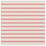 [ Thumbnail: Bisque and Light Coral Colored Stripes Fabric ]