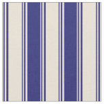 [ Thumbnail: Bisque and Midnight Blue Stripes/Lines Pattern Fabric ]