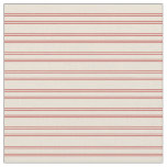 [ Thumbnail: Bisque and Red Colored Pattern of Stripes Fabric ]