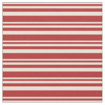 [ Thumbnail: Bisque and Red Striped/Lined Pattern Fabric ]