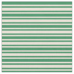 [ Thumbnail: Bisque and Sea Green Lines Fabric ]