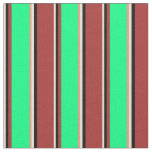 [ Thumbnail: Bisque, Black, Brown, Green, and Dark Salmon Fabric ]