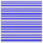 [ Thumbnail: Bisque & Blue Colored Pattern Fabric ]