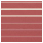 [ Thumbnail: Bisque & Brown Colored Stripes Pattern Fabric ]
