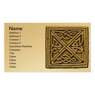 Bisque Celtic Knot Business Card