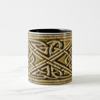 Bisque Celtic Knot Mugs