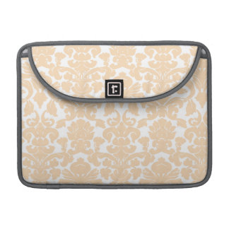 Bisque Color Damask Pattern MacBook Pro Sleeve
