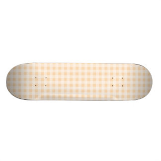 Bisque Color Gingham; Checkered Skateboard