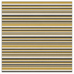 [ Thumbnail: Bisque, Dark Goldenrod & Black Colored Lines Fabric ]