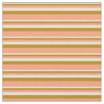 [ Thumbnail: Bisque, Dark Goldenrod & Light Salmon Lines Fabric ]