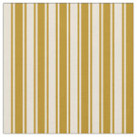 [ Thumbnail: Bisque & Dark Goldenrod Stripes Pattern Fabric ]