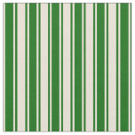 [ Thumbnail: Bisque & Dark Green Colored Pattern Fabric ]