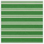 [ Thumbnail: Bisque & Dark Green Lined Pattern Fabric ]