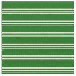 [ Thumbnail: Bisque & Dark Green Pattern Fabric ]