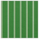 [ Thumbnail: Bisque & Dark Green Stripes Pattern Fabric ]