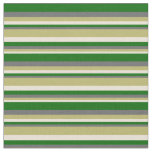 [ Thumbnail: Bisque, Dark Khaki, Dim Grey & Dark Green Lines Fabric ]