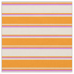 [ Thumbnail: Bisque, Dark Orange, and Orchid Colored Lines Fabric ]