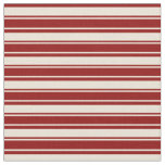 [ Thumbnail: Bisque & Dark Red Stripes Pattern Fabric ]