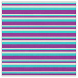 [ Thumbnail: Bisque, Dark Turquoise & Purple Colored Pattern Fabric ]