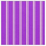 [ Thumbnail: Bisque & Dark Violet Lines/Stripes Pattern Fabric ]