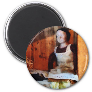 Bisque Doll For Sale 2 Inch Round Magnet