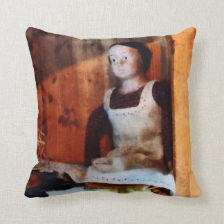 Bisque Doll For Sale Throw Pillow