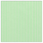 [ Thumbnail: Bisque & Green Colored Lines Fabric ]