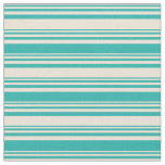 [ Thumbnail: Bisque & Light Sea Green Colored Pattern Fabric ]