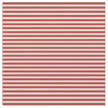 [ Thumbnail: Bisque & Red Striped/Lined Pattern Fabric ]