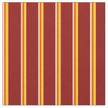[ Thumbnail: Bisque, Red, Yellow, and Dark Red Colored Lines Fabric ]