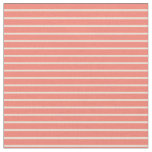 [ Thumbnail: Bisque & Salmon Lines Fabric ]