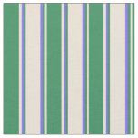 [ Thumbnail: Bisque, Sea Green, and Medium Slate Blue Colored Fabric ]