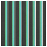 [ Thumbnail: Bisque, Slate Gray, Turquoise, Sea Green & Black Fabric ]