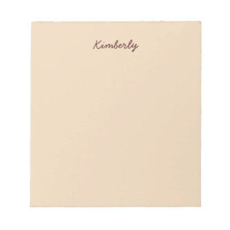 Bisque Solid Color Notepad