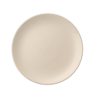 Bisque Solid Color Plate