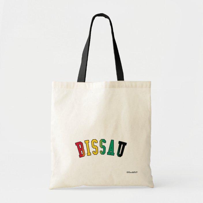 Bissau in Guinea-Bissau National Flag Colors Bag