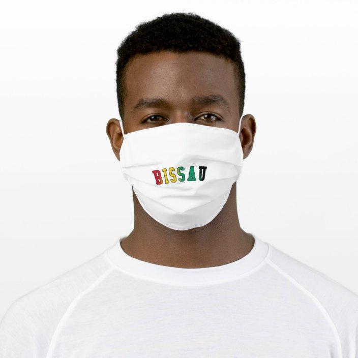 Bissau in Guinea-Bissau National Flag Colors Face Mask