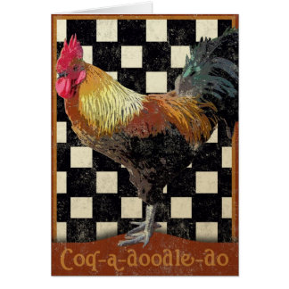 Bisto Rooster Greeting Card